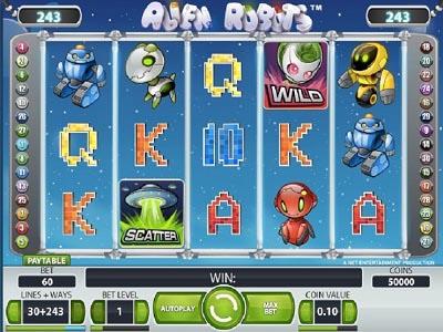 slot machine Alien Robot slot machine