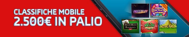 gd casino classifiche mobile 2500 € montepremi