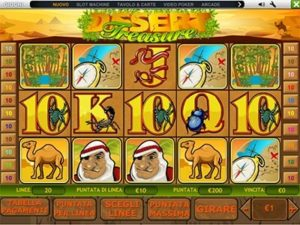 desert treasure slot machine gratis con bonus