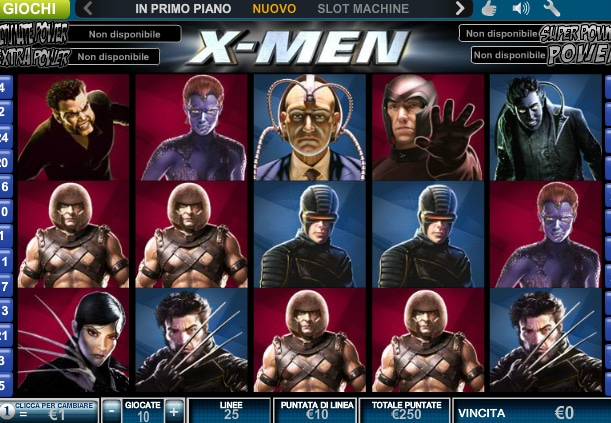 slot machine X-Man