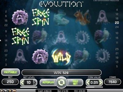 Evolution slot machine gratis con bonus
