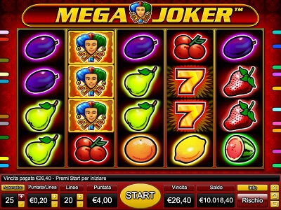 Mega Joker slot machine gratis con bonus