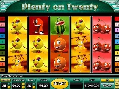 plenty on twenty gratis con bonus