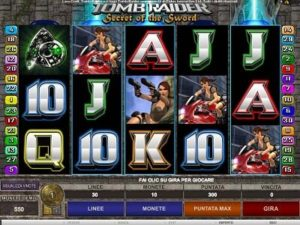 Tomb Raider sl,ot machine