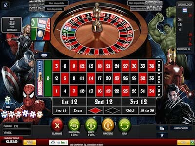 Marvel Roulette slot machine