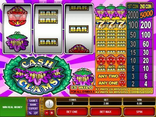 Cash Clams slot machine
