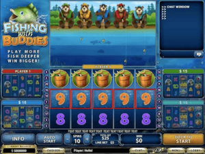 Fishing with buddies slot machine