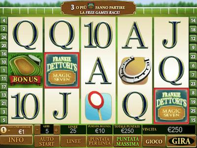 Frankie Dettori Magic Seven slot machine