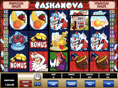 Cashanova slot machine