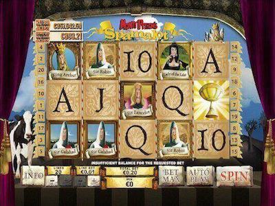 Monty Python Spamalot slot machine