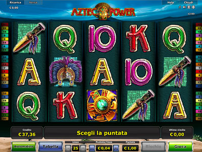 Aztec Power slot machine gratis con bonus