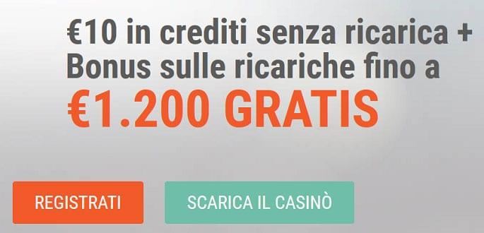 bonus vogliadivincere: 10€ senza deposito